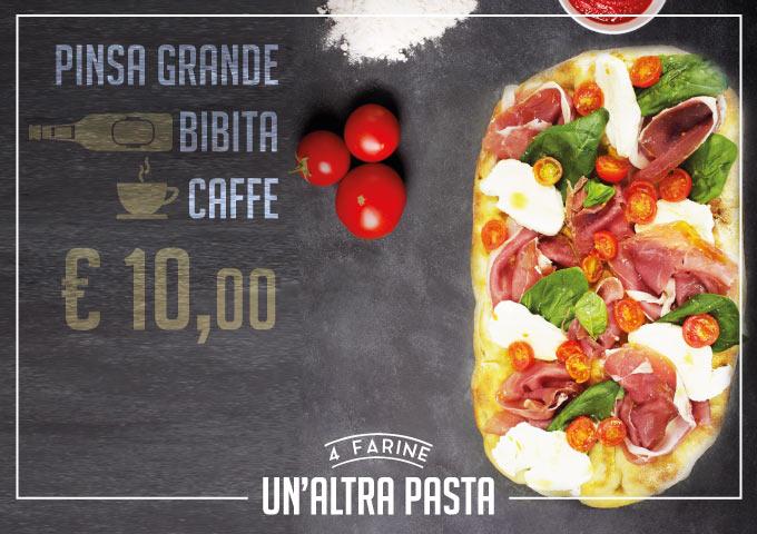 Un Altra Pasta 4 Farine Fragranza Gusto Digeribilita Menu Pinsa Grande Bibita A Scelta Caffe Solo 10 Euro